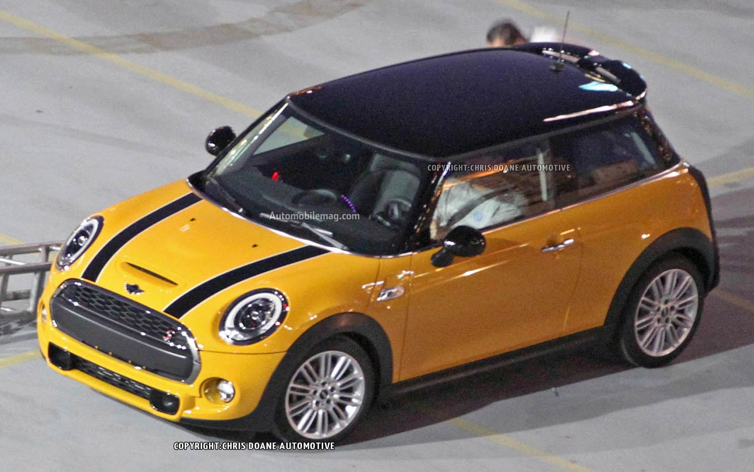 2014 Mini Cooper S Spied Yellow Front Three Quarter 21